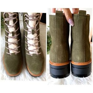 Marc Fisher Shoes - NEW Marc Fisher Dark Green Suede Leather Boots